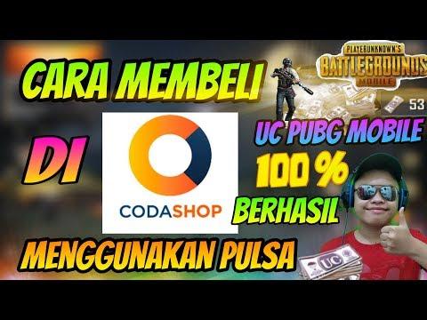 Cara top up uc pubg mobile pakek pulsa di codashop - игровое видео