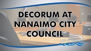 Decorum at Nanaimo City Council