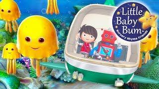 Ten Little Animals | From The Sea | Nursery Rhymes | By LittleBabyBum!