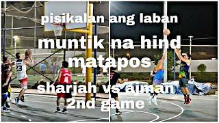 intense ang laban || sharjah vs ajman || hamediya park || dubai UAE || basketball game || vlog 30