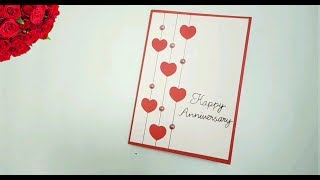 Easy Anniversary greeting card / hand made anniversary greeting card / wedding day greeting card