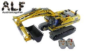 Lego Technic 8043 Motorized Excavator - Lego Speed Build Review