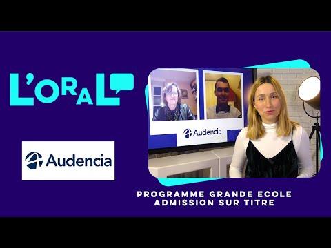 L'oral : PGE Audencia AST