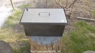 Обзор коптильни горячего копчения с гидрозатвором от компании Smoke House