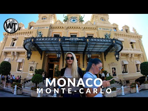 4K Virtual Tour - Monte-Carlo District, Casino - 🇲🇨 Monaco