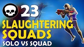 23 KILLS   DAEQUAN SLAUGHTERING SQUADS   FUNNY GAME - (Fortnite Battle Royale)