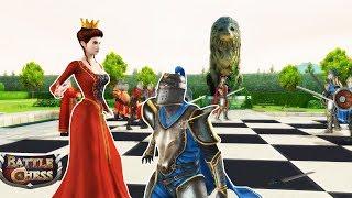 Battle Chess : Game Of Kings   Game Cờ Vua Hình Người 3D: Hoàng Hậu đã Xinh đẹp Lại Còn Ngầu!!!