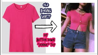 DIY Button Lace Knit Cardigan shirt (Jennie Top)