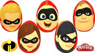 5 Huevos Sorpresas De Los Increíbles Mr Increíble, Jack Jack, Elastigirl, Dash Y Violeta
