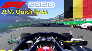 F1 2020 - 25% Quick Race at Circuit Spa-Francorchamps in Gasly's AlphaTauri