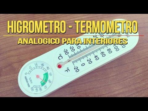 Como Medir Humedad y Temperatura con Termometro Higrometro Analogico