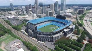 Drone view of Charlotte NC