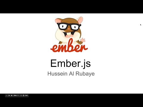‪4- EmberJS | understand the route  فهم الروابط‬‏