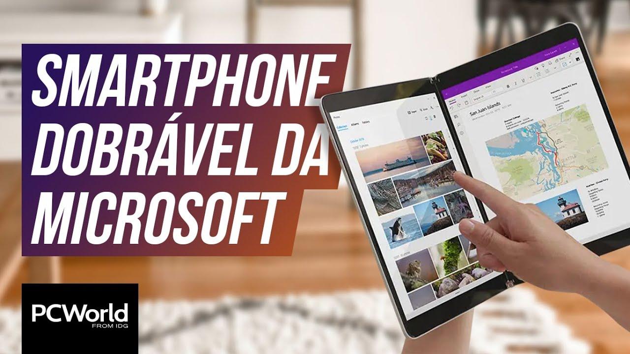 Smartphone dobrável da Microsoft com Android e mais Surfaces