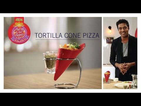 #PartyTohBantiHai Tortilla Cone Pizza