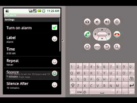 Video of Smiley Alarm Clock Widget
