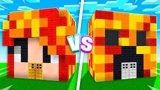 Minecraft House Battle vs My Little Sister! (Boy vs Girl)