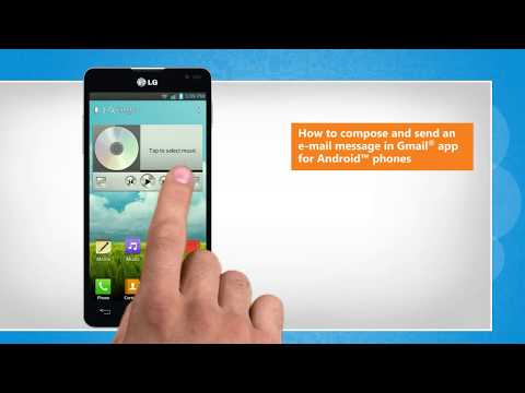 How to compose and send an e-mail message in Gmail® app for Android™ phones