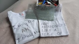 DIY Sharpie T-shirt -- ThisIsCarrie