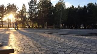 лечебная музыка в клипе о фонтане в парке