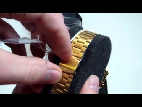 Goldene Uhr Casio A168WG-9EF - Unboxing & Test