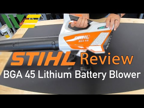 Stihl BGA 45 Battery Blower Review | Should you buy Battery Powered Blower?