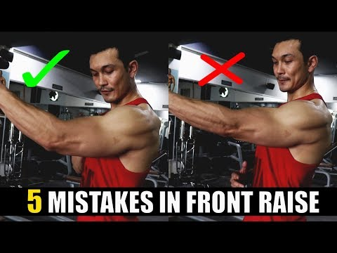 FRONT RAISE DUMBBELL [5 खतरनाक ग़लतियां] STOP NOW !!
