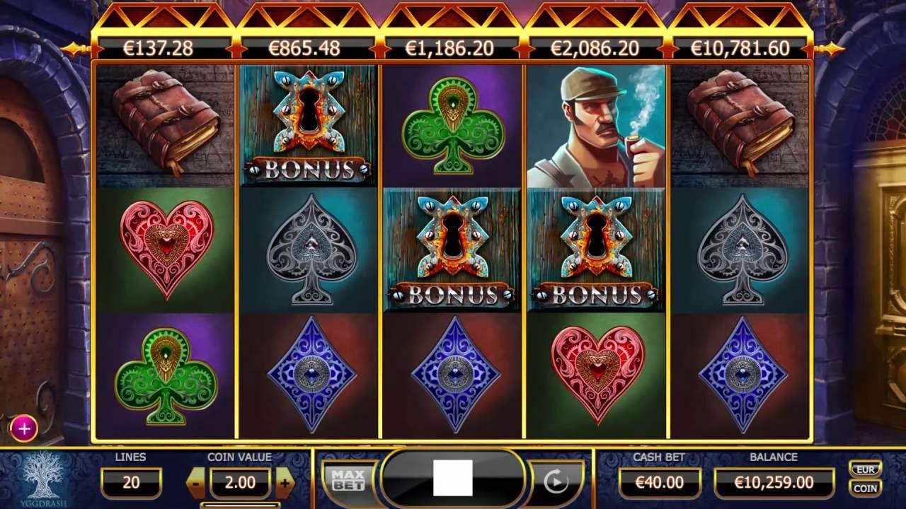 Holmes and the Stolen Stones från Yggdrasil Gaming