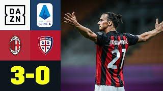 AC Mailand schlägt am letzten Spieltag der Serie A Cagliari mit 3:0 und bleibt seit dem Re-Start ungeschlagen. Klavan eröffnete mit einem wilden Eigentor, ehe Ibrahimovic einen Elfmeter vergab. In der 2. Halbzeit knallte Zlatan sich dann seinen Elfer-Frust von der Seele, Castillejo sorgte sehenswert für den Endstand. Milan wird 6. und schafft es doch noch in die Europa League, Cagliari beendet die Saison auf Rang 13.  ►Sichere dir deinen Gratismonat: http://bit.ly/DAZNerleben ►Das Programm von DAZN: http://bit.ly/2uFkulD ►DAZN auch auf Facebook: https://bit.ly/2lUGipo  +++ Die besten Fußball Highlights aus allen Wettbewerben auf YouTube +++ ►DAZN UEFA Champions League auf YouTube abonnieren: https://bit.ly/2WL75qD ►DAZN UEFA Europa League auf YouTube abonnieren: https://bit.ly/2DTc8yb ►DAZN Bundesliga auf YouTube abonnieren: https://bit.ly/2Daw8dS ►DAZN Länderspiele auf YouTube abonnieren: https://bit.ly/2XAYNSd ►Goal auf YouTube abonnieren: https://bit.ly/2Bk4H0Y  +++ Die besten Sport Highlights auf YouTube +++ ►DAZN Tennis auf YouTube abonnieren: https://bit.ly/2DblEuK ►DAZN Darts auf YouTube abonnieren: https://bit.ly/2ScVbqU   ►SPOX auf YouTube abonnieren: https://bit.ly/2MPaQqI  Erlebe tausende Sportevents in HD-Qualität auf allen Geräten. Auf DAZN gibt's europäischen Top-Fußball mit UEFA Champions League, UEFA Europa League, Bundesliga, Copa America, La Liga, der Serie A und Ligue 1 sowie den besten US-Sport aus NFL, NBA, MLB und NHL. Dazu: Fight Sports, Darts, Tennis, Hockey und vieles mehr - wann und wo du willst.  ERLEBE DEINEN SPORT LIVE UND AUF ABRUF. AUF ALLEN GERÄTEN.  +++ Über DAZN +++ DAZN ist ein Livesport-Streamingdienst, der es Fans erlaubt, Sport so zu erleben, wie sie es möchten. Egal ob live zu Hause, unterwegs, zeitversetzt oder im Rückblick, DAZN bietet über 8.000 Sportübertragungen pro Jahr und beinhaltet damit das umfangreichste Sportangebot, das es jemals bei einem einzelnen Anbieter gegeben hat.  DAZN bietet einen Gratismonat, kostet danac