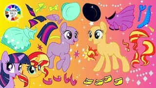Play with MLP Twilight Sparkle and Sunset Shimmer dress up for Cherry Blossom Path