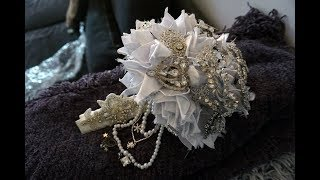 How To Make A Very EXTRA DIY Bridal Brooch Bouquet