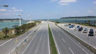 沖縄旅行海中道路をドライブ車載動画/沖縄おすすめ観光スポット