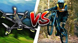 VTT de descente VS DRONE De COURSE!!!
