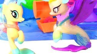 Май Литл Пони Мультик ПИЖАМНАЯ ВЕЧЕРИНКА #ПОНИ РУСАЛКИ! Видео для Детей #Игры для Девочек