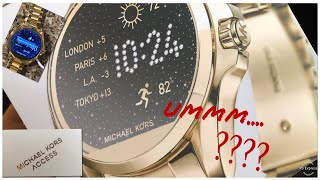 MICHAEL KORS BRADSHAW SMART WATCH REVIEW | Unboxing & Thoughts