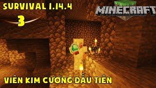 Minecraft Survival 1.14.4   Những Viên Kim Cương Đầu Tiên Và Chuyến Đi Mine Thành Công #3