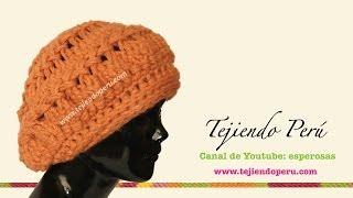 Boina Tejida En Horquilla (Hairpin Lace ) Parte 1