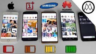 Huawei Mate 10 Pro vs Galaxy Note 8 vs iPhone 8 Plus- Battery Life Drain Test