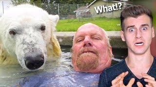 This Man Swims With A Real Polar Bear (Bad Idea)