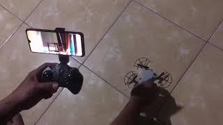 Cara menerbangkan drone mini camera wifi fpv TH.