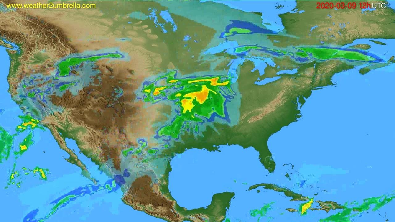 Radar forecast USA & Canada // modelrun: 00h UTC 2020-03-09