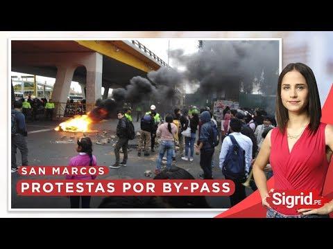Protestas en San Marcos por construcción de by-pass | Sigrid.pe