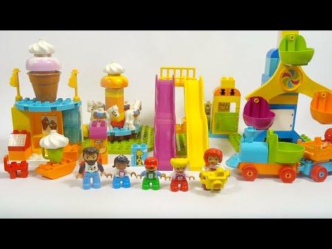 LEGO Duplo. My town. Лего Дупло. Обзор.Семейный парк аттракционов.