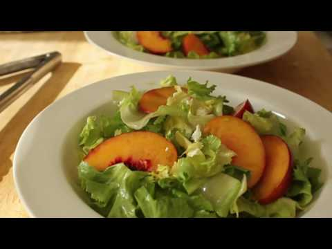 Food Wishes Recipes – Peach and Escarole Salad – Summer Peach and Curly Endive Salad Recipe