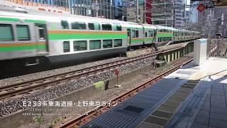 電車有楽町駅京浜東北線快速ホームから