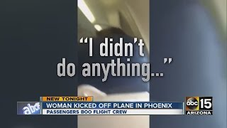 Woman kicked off plane in Phoenix