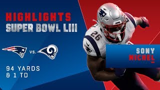 Best Runs by Sony Michel vs. Rams | Super Bowl LIII Player Highlights