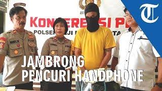 5 Kali Curi Handphone di Depok Terekam CCTV Sampai Diringkus Polisi, Jambrong Akui Ketagiha