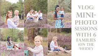 Vlog: Mini Photo Sessions With Purple Flowers (Heide Fotoshoot) - BTS Photoshoots With 6 Families
