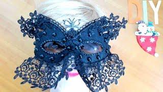 DIY/МК Как сделать карнавальную маску со старых очков. Carnival Mask With Old Glasses